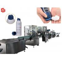 China Automatic Aerosol Filling Line Shaving Gel / Shaving Foam Packaging 2000-3200 Cans/ hr for sale