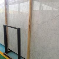 Polished Italy White Marble Floor Bianco Carrara Marble Subway Tiles Countertops for sale