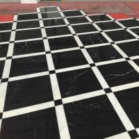 Black Nero Marquina Marble Tiles For Flooring for sale