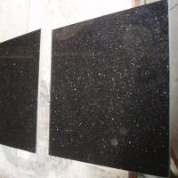 China Discount Natural Black Galaxy Granite Stone Tile For Floor for sale