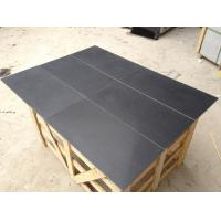Honed Surface Black Granite For Indoor Flooring And Wall Tile for sale