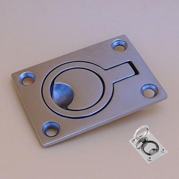 China 316 Marine Grade Stainless Steel Flush Lifting Handle Pull Boat Hatches Lift Ring