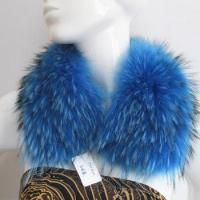 Quality dyed blue collar garment use raccoon fur collar for sale
