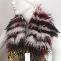 Wholesale dyed color top quality real raccoon fur jacket collar from china suppliers