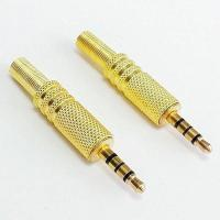 "Wholesale connector wuernine TRS Male Plug 3 Pole 1/8"" 3.5mm Solder Type DIY Audio Cable adset from china suppliers"