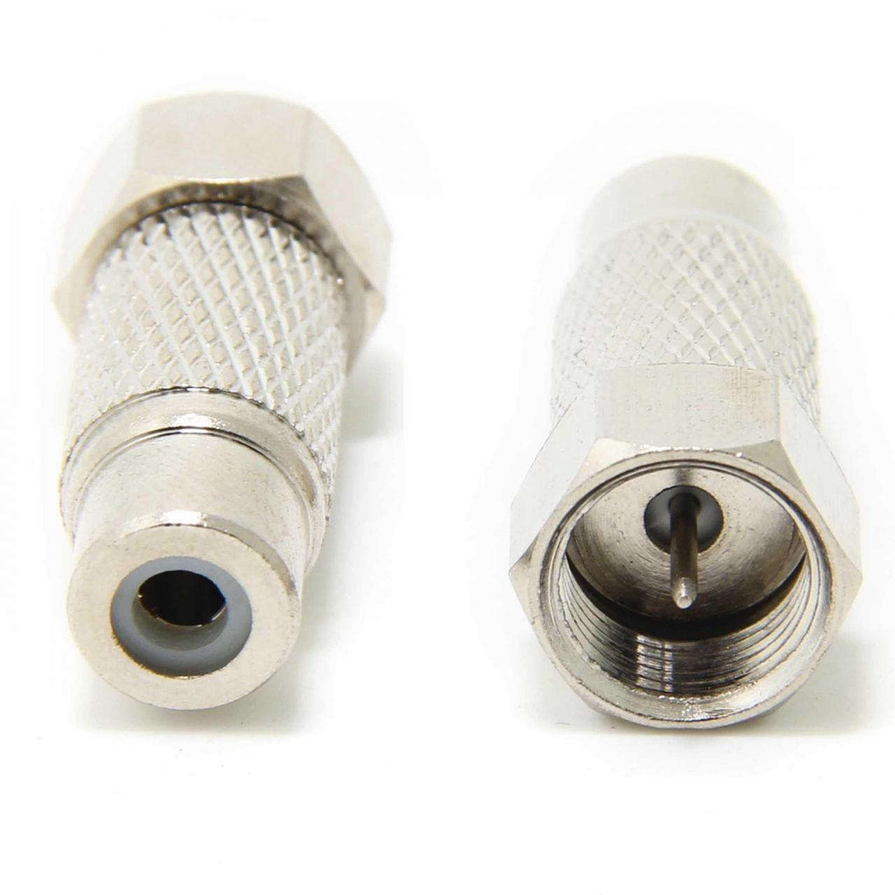 Wholesale connector wuernine F-Type Male Plug to RCA Female Jack RF Video TV Cable Adapt from china suppliers