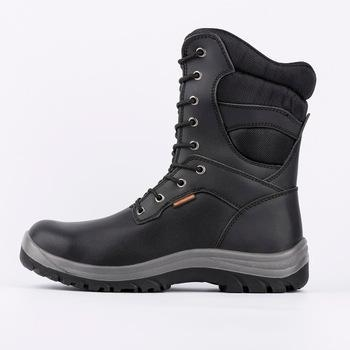 China Cow leather steel toe safety boots, security boots