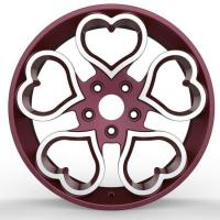 Free customization 16 inch pink small wheel rims for Valentine's Day by forging