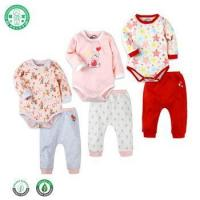 China Hot sale baby clothes set organic cotton baby boys clothes baby romper + pants on sale